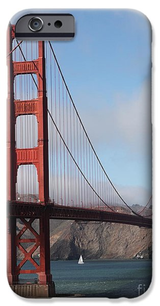 The San Francisco Golden Gate Bridge - 5D18906 iPhone Case by Wingsdomain Art and Photography