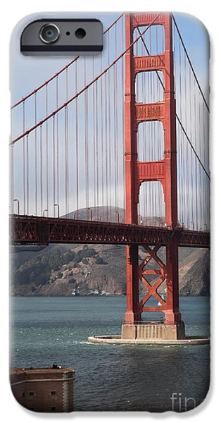 The San Francisco Golden Gate Bridge - 5D18911 iPhone Case by Wingsdomain Art and Photography