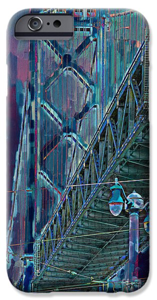 Baybridge iPhone Cases - The San Francisco Oakland Bay Bridge iPhone Case by Wingsdomain Art and Photography