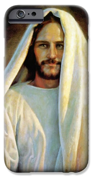 Shawl iPhone Cases - The Savior iPhone Case by Greg Olsen