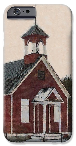 The School House Painterly iPhone Case by Ernie Echols