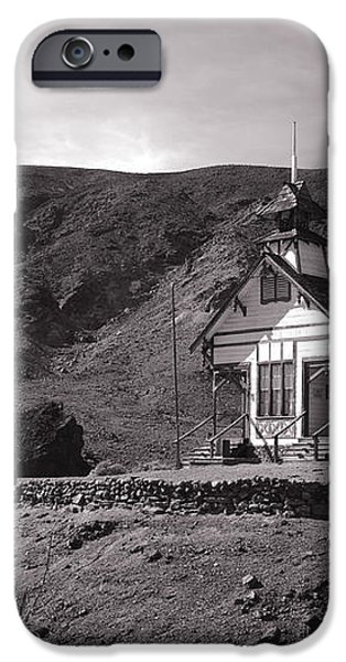 The Schoolhouse in Calico Ghost Town California iPhone Case by Susanne Van Hulst