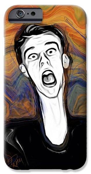 The Scream iPhone Cases - The Scream iPhone Case by Russell Pierce