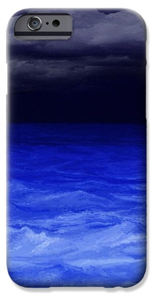 The Sea At Night iPhone Case by Gina Lee Manley