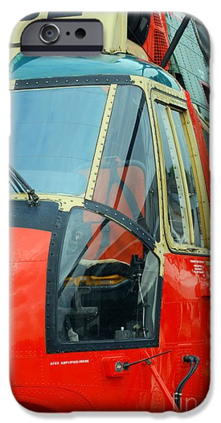 The Sea King Helicopter Used iPhone Case by Luc De Jaeger