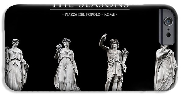 Cut-outs iPhone Cases - The Seasons iPhone Case by Fabrizio Troiani