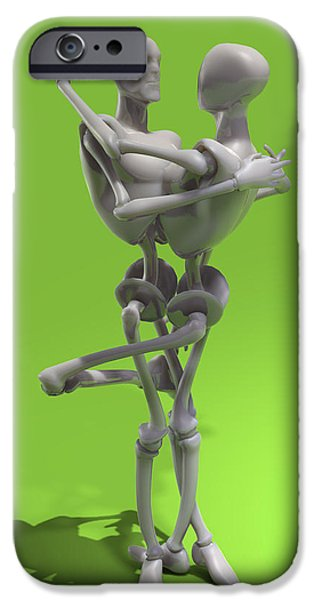 Muscular Digital iPhone Cases - The seduction of the machines iPhone Case by Joaquin Abella