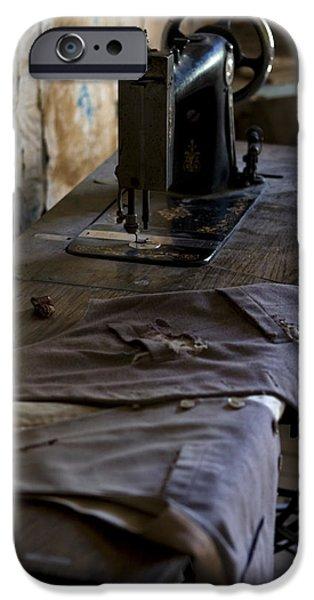 Torn iPhone Cases - The Sewing Machine iPhone Case by Lorraine Devon Wilke