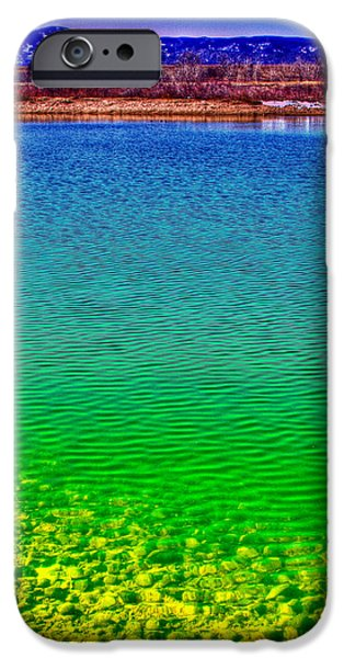 Beaver Digital iPhone Cases - The Shallow End of Eaglewatch Lake iPhone Case by David Patterson