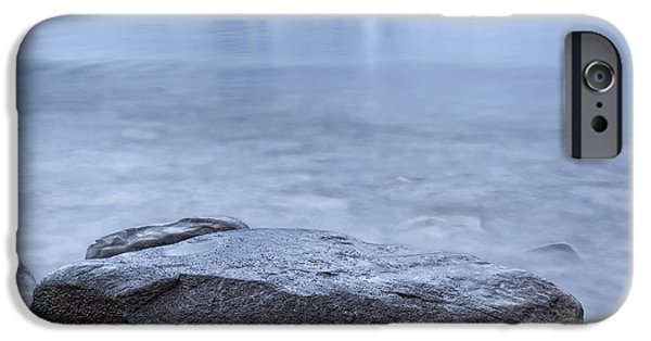 Kathleen iPhone Cases - The Shoreline Of Kathleen Lake In Late iPhone Case by Robert Postma