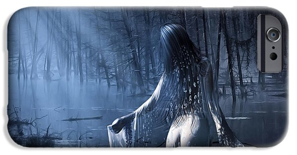 Eerie Mixed Media iPhone Cases - The Siren iPhone Case by Svetlana Sewell