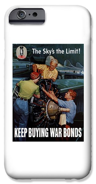 War iPhone Cases - The Skys The Limit iPhone Case by War Is Hell Store