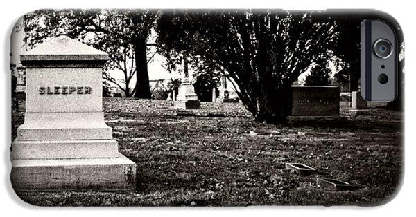 Headstones iPhone Cases - The Sleeper Family iPhone Case by Chris Berry