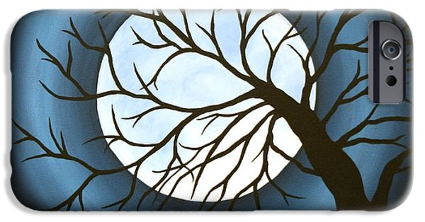 Moon iPhone Cases - The Sleeping iPhone Case by Angela Hansen