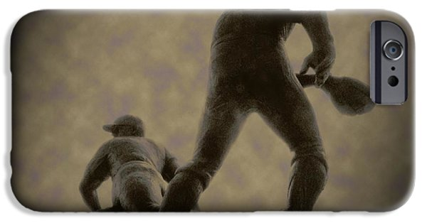 Citizens Bank Park iPhone Cases - The Slide - Kick Up Some Dust iPhone Case by Bill Cannon