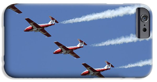 Snowbird iPhone Cases - The Snowbirds Flyby iPhone Case by Bob Christopher