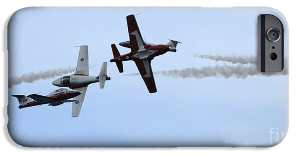 Snowbird iPhone Cases - The Snowbirds More Fourplay iPhone Case by Bob Christopher
