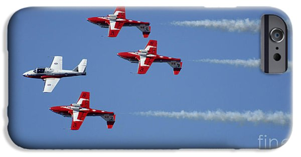 Snowbird iPhone Cases - The Snowbirds Playing It Cool iPhone Case by Bob Christopher