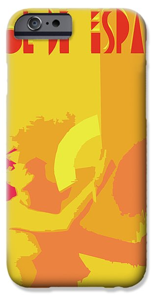 Abstract Digital Art Drawings iPhone Cases - The Spanish sun By Quim Abella iPhone Case by Joaquin Abella