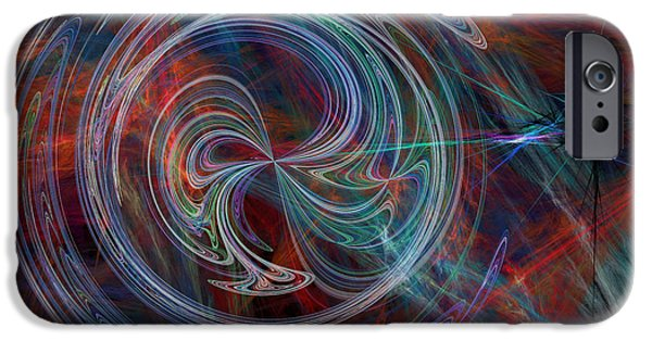 Abstract Digital Art iPhone Cases - The Spark of Life iPhone Case by Rod Johnson