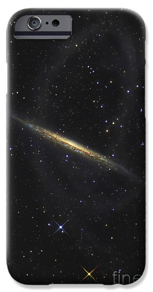 Disc iPhone Cases - The Splinter Galaxy, Also Known As Ngc iPhone Case by R Jay GaBany