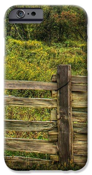 The Split Rail Meadow iPhone Case by Benanne Stiens