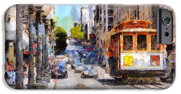 Sf iPhone Cases - The Streets of San Francisco . 7D7263 iPhone Case by Wingsdomain Art and Photography