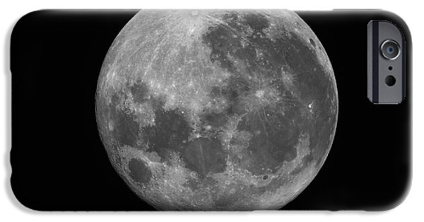 Copernicus iPhone Cases - The Supermoon Of March 19, 2011 iPhone Case by Phillip Jones