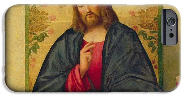 Jesus Paintings iPhone Cases - The Supper at Emmaus iPhone Case by Vincenzo di Biaio Catena
