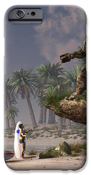 The Surf God   iPhone Case by Daniel Eskridge
