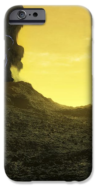 The Surface Of An Infernal Planet iPhone Case by Fahad Sulehria