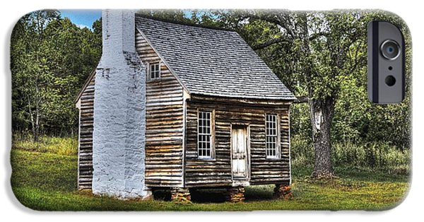 Cabin Window Digital iPhone Cases - The Sweeney Place - color iPhone Case by Dan Stone
