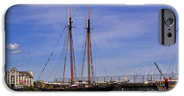 Tall Ship iPhone Cases - The tall ship Pacific Grace based in Victoria Canada iPhone Case by Louise Heusinkveld