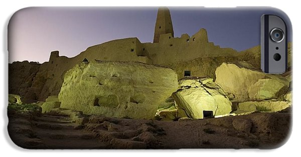 Historic Site iPhone Cases - The Temple Of The Oracle, Siwa Oasis iPhone Case by Deddeda