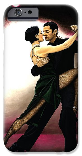 Best Sellers -  - Drama iPhone Cases - The Temptation of Tango iPhone Case by Richard Young