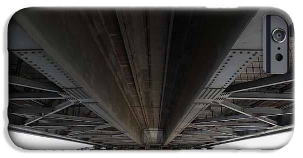 Bay Bridge iPhone Cases - The Three Benicia-Martinez Bridges in California - 5D18842 iPhone Case by Wingsdomain Art and Photography