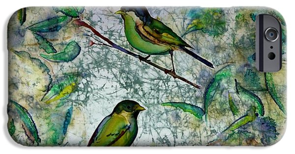 Birds Tapestries - Textiles iPhone Cases - The Time Of Singing Birds iPhone Case by Carolyn Doe