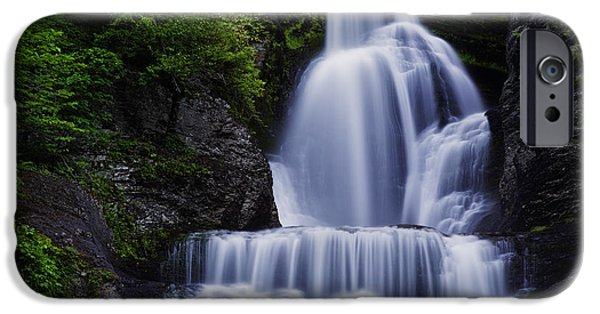 Pennsylvania iPhone Cases - The Top of Dingmans Falls iPhone Case by Rick Berk