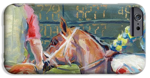 Board Paintings iPhone Cases - The Tote Board iPhone Case by Kimberly Santini