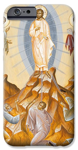 The Transfiguration of Christ iPhone Case by Julia Bridget Hayes