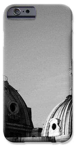 The twin domes of S. Maria di Loreto and SS. Nome di Maria iPhone Case by Fabrizio Troiani