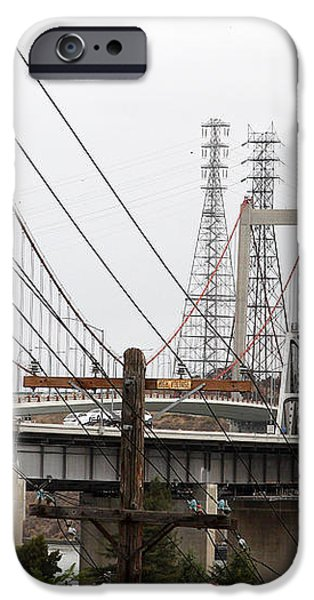 The Two Carquinez Bridges At Crockett and Vallejo California . aka Alfred Zampa Memorial Bridge . 7D8919 iPhone Case by Wingsdomain Art and Photography