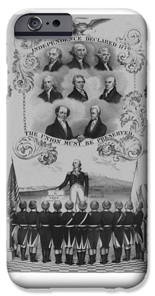 Washington Mixed Media iPhone Cases - The Union Must Be Preserved iPhone Case by War Is Hell Store