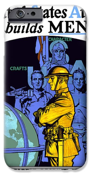 Ww1 iPhone Cases - The United States Army Builds Men iPhone Case by War Is Hell Store