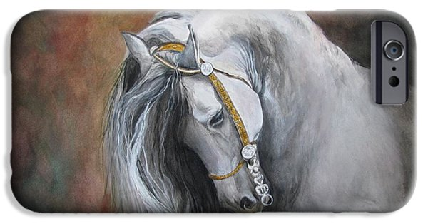 Horse iPhone Cases - The Unreigned King iPhone Case by Nonie Wideman