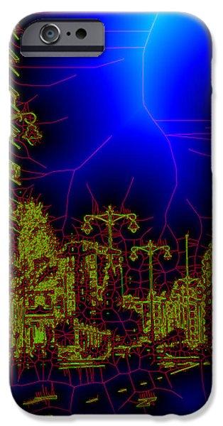 The urban network iPhone Case by Angel Jesus De la Fuente