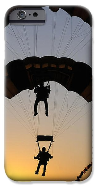 The U.s. Army Golden Knights Perform An iPhone Case by Stocktrek Images