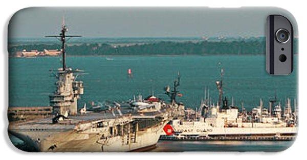 Yorktown iPhone Cases - The USS Yorktown iPhone Case by Kathy Clark