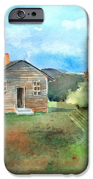 The Vacant Schoolhouse iPhone Case by Arline Wagner