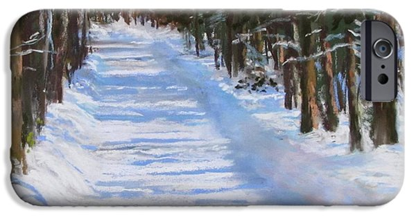 Concord. Winter iPhone Cases - The Valley Road iPhone Case by Jack Skinner